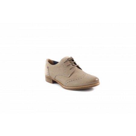 Дамски обувки с връзки бежови Tamaris 23210324