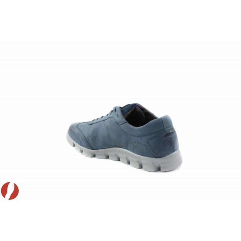 Дамски кожени маратонки сини Tamaris 23702805