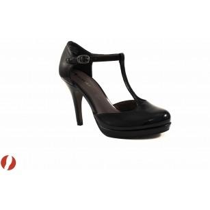 Дамски обувки на висок ток черен лак Tamaris 2448018