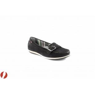 Дамски обувки мокасин черни Tamaris