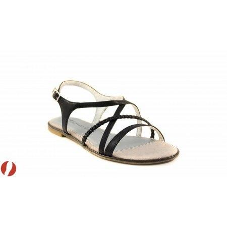 Дамски сандали на равно ходило Tamaris черни 28129015