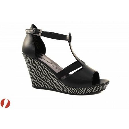 Дамски сандали на платформа Tamaris черни 28352098