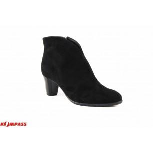 Дамски кожени боти на ток Ara черни велур 4340871