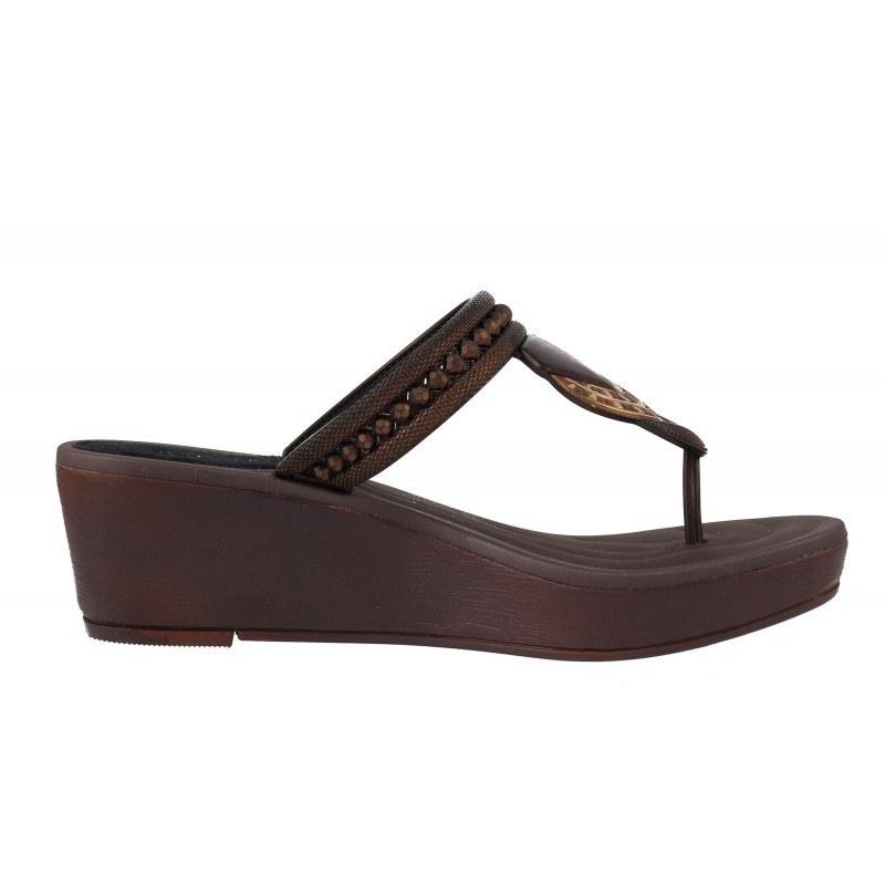 Дамски чехли на платформа Grendha TRIBAL кафяви