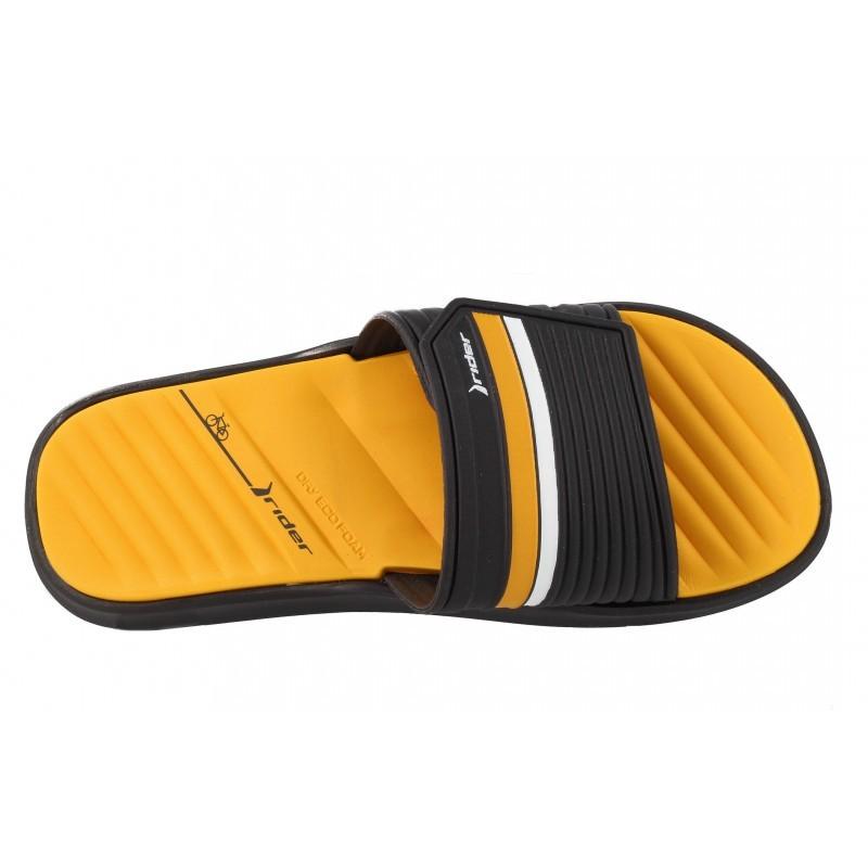 Мъжки чехли Rider черно/жълти RAIL