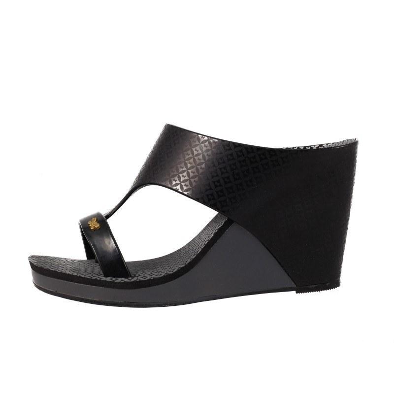 Дамски чехли на платформа Zaxy черни