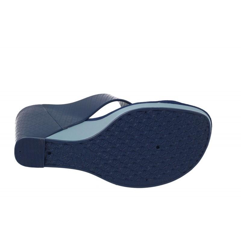 Дамски чехли на платформа Zaxy сини
