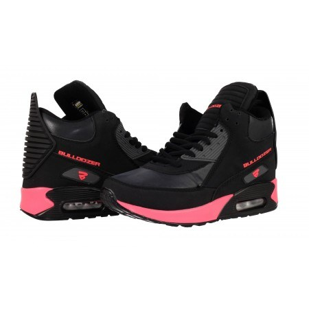 Дамски маратонки с камерна подметка Bulldozer черни корал