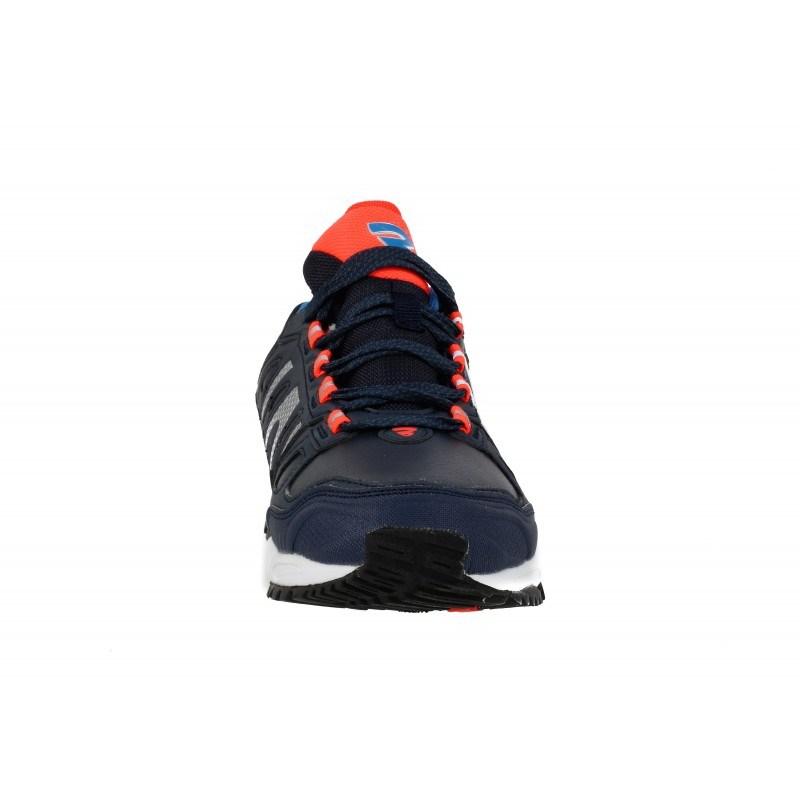 Мъжки маратонки с връзки Bulldozer сини оранжеви