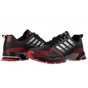 Мъжки маратонки с връзки Bulldozer черни червени
