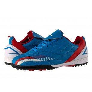 Спортни маратонки за футбол Bulldozer сини комби