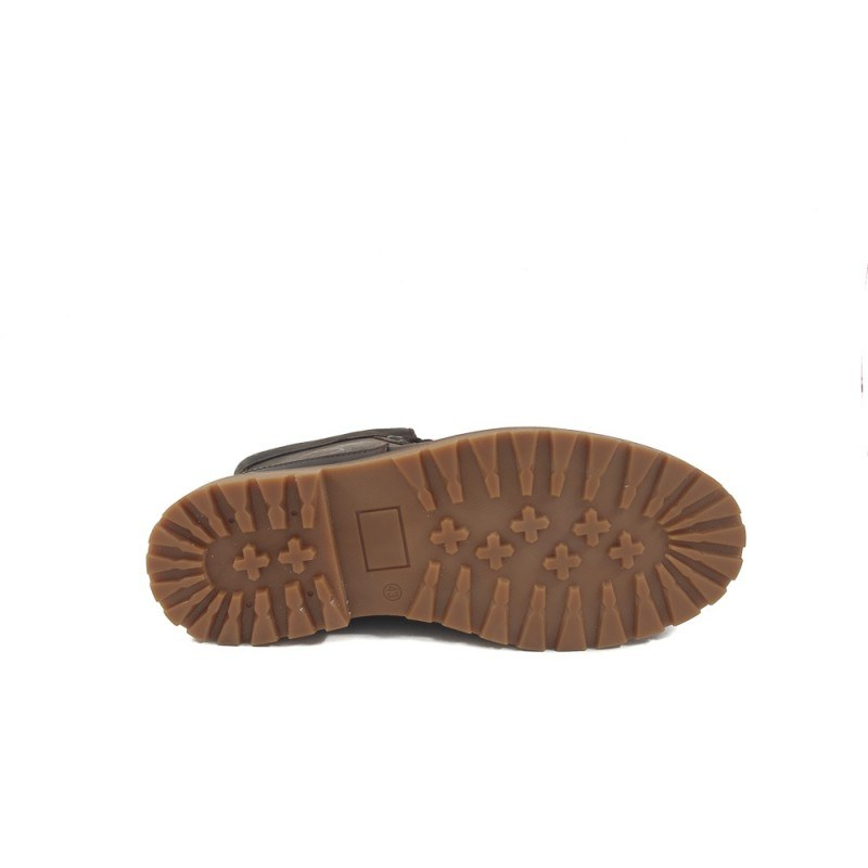 Мъжки кожени боти с връзки кафяви каучук 6798324