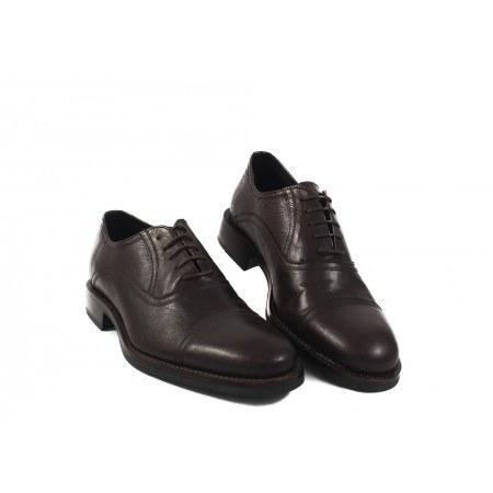 Мъжки елегантни обувки от естествена кожа кафяви 7446324