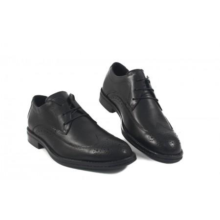 Мъжки официални обувки от естествена кожа с връзки 8331001