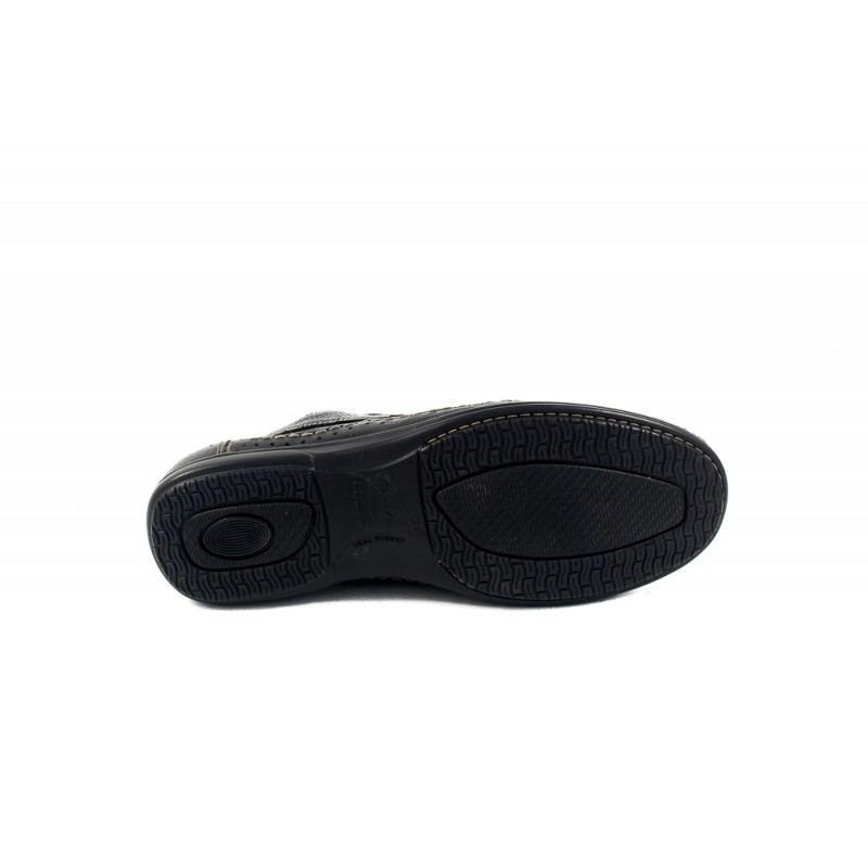 Мъжки пролетни обувки от естествена кожа с връзки черни 8513001