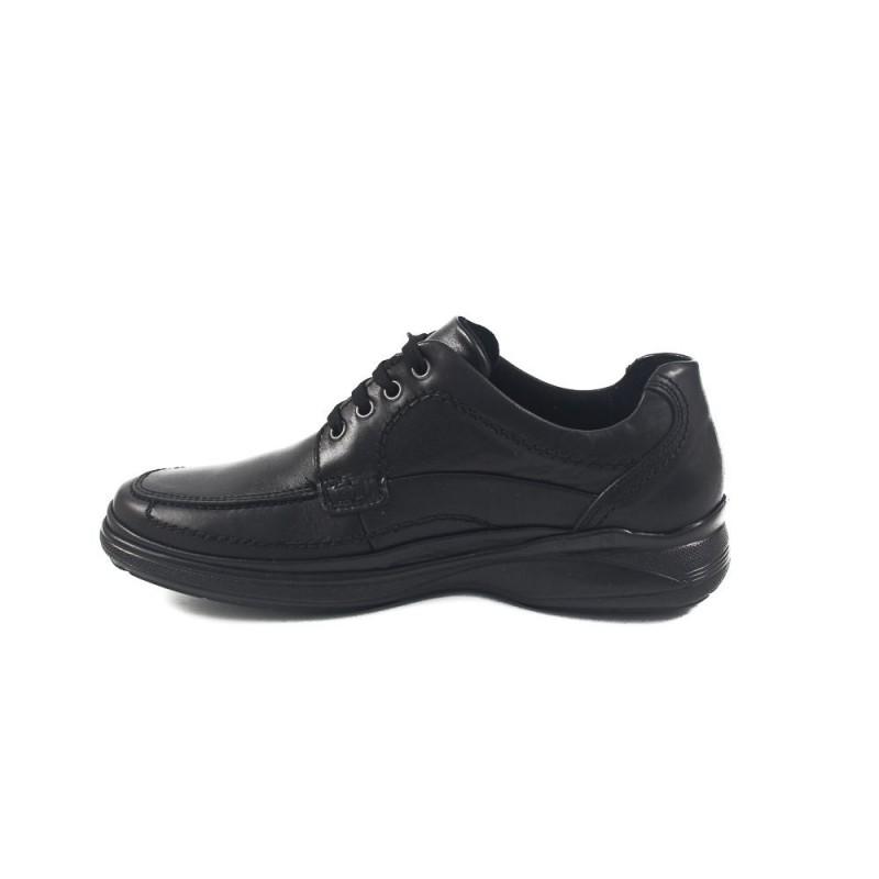 Мъжки черни обувки от естествена кожа 8762001
