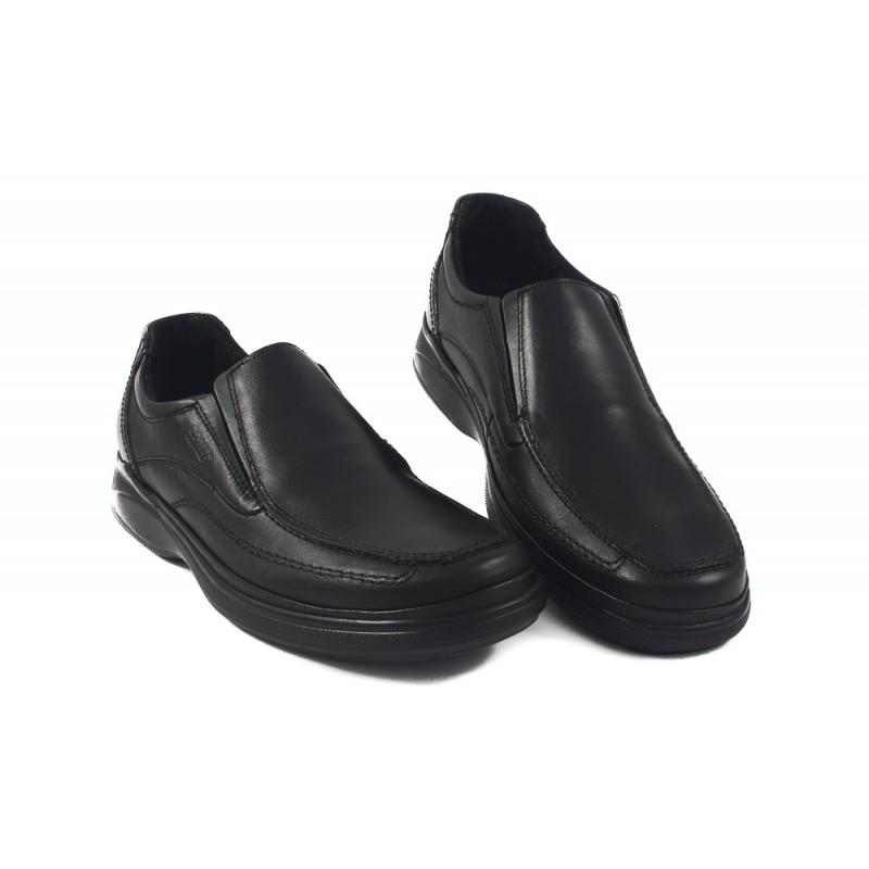 Мъжки черни обувки от естествена кожа 8766011
