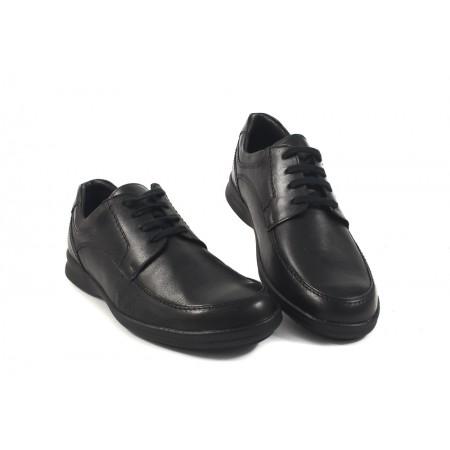 Мъжки кожени обувки с връзки черни 8943001