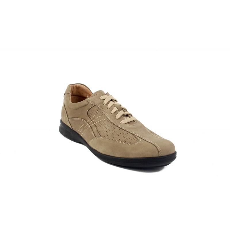 Мъжки кожени обувки с връзки бежови 8952400