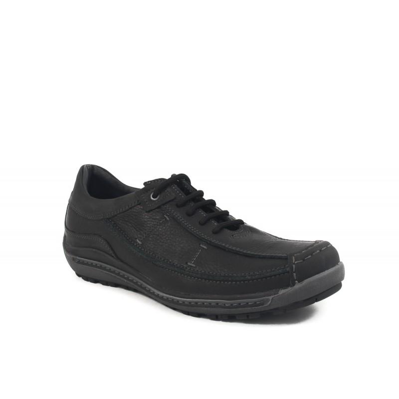 Мъжки кожени обувки с връзки черни 83271001 ГОЛЕМИ РАЗМЕРИ