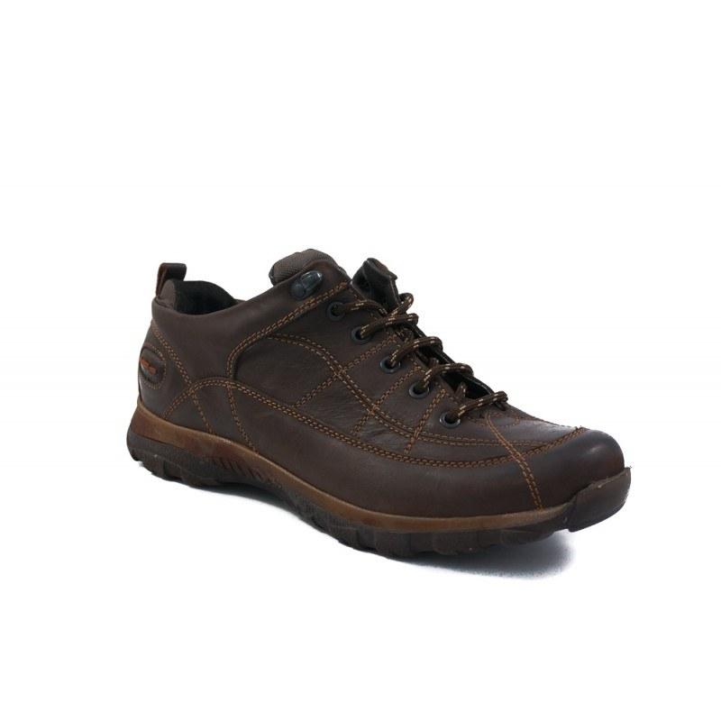 Мъжки обувки с връзки от естествена кожа кафяви 83318324