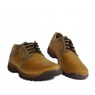 Мъжки кожени обувки с връзки бежови 83325400