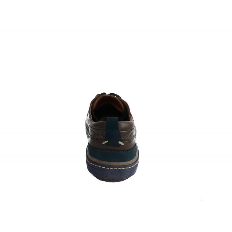 Мъжки кожени обувки с връзки кафяви 83327324