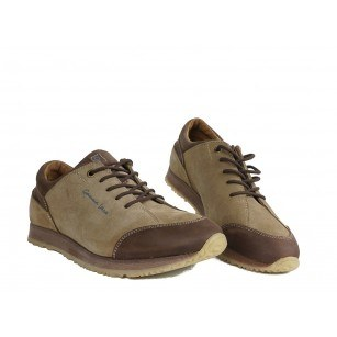 Мъжки спортни обувки с връзки бежови 83328324