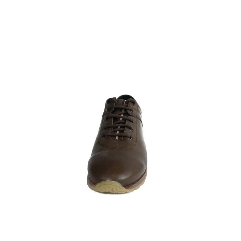 Мъжки спортни обувки от естествена кожа с връзки кафяви 83330324
