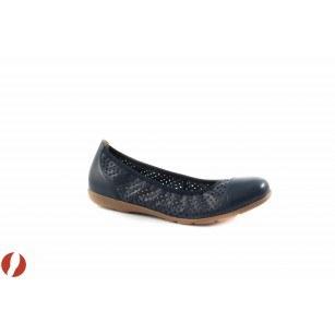 Дамски кожени обувки балерина Caprice сини 22151803