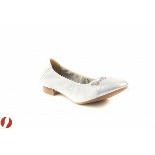 Дамски обувки балерина Caprice еленова кожа бели 22152191