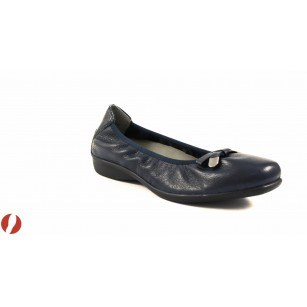 Дамски обувки балерина еленова кожа Caprice сини 22157803
