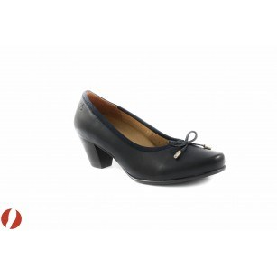 Дамски обувки на среден ток тъмно сини Caprice 22402876
