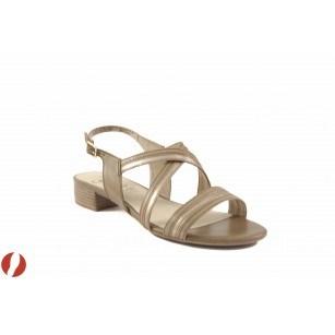 Дамски сандали на нисък ток Caprice бежови 28118098