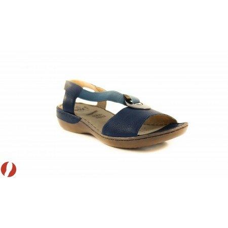 Дамски сандали на равно ходило Caprice сини 28659805
