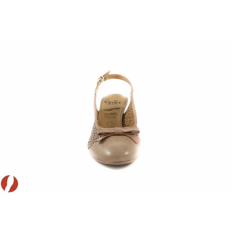 Дамски сандали на ток бежови Caprice 29602358