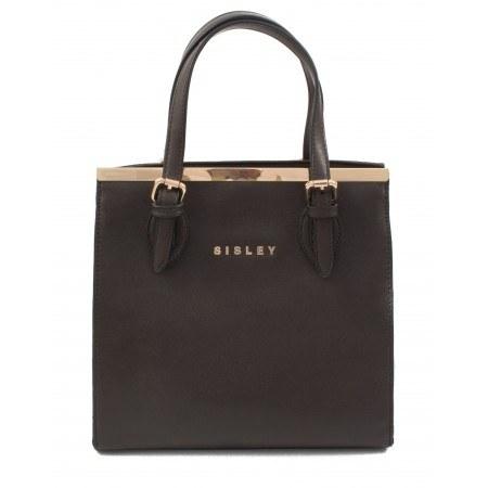 Дамска малка чанта Sisley кафява 52041002