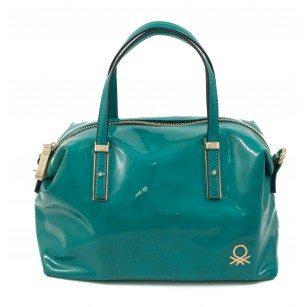 """Дамска чанта """"куфарче"""" Benetton тюркоаз 73865003"""