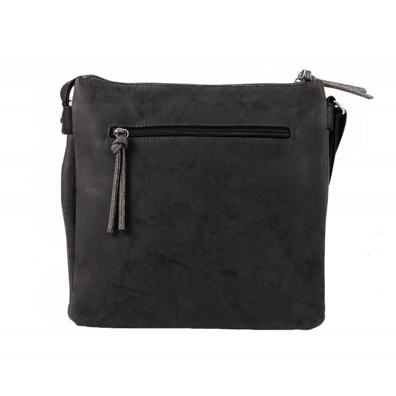 Дамска средна чанта през рамо Tamaris сива черна