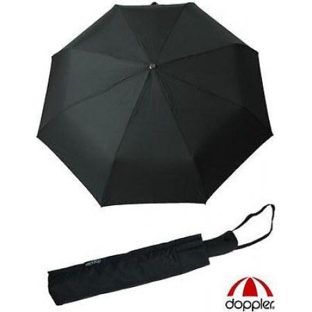 Mъжки чадър Doppler черен АВТОМАТИЧЕН XL