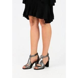 Елегантни дамски сандали на висок ток BE ME сребристи