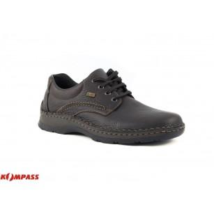 Мъжки кожени обувки с връзки Rieker кафяви 0531025