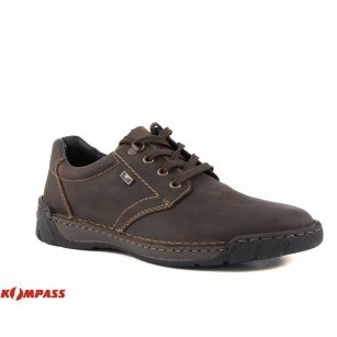 Мъжки обувки естествена кожа  Rieker Antistress кафяви