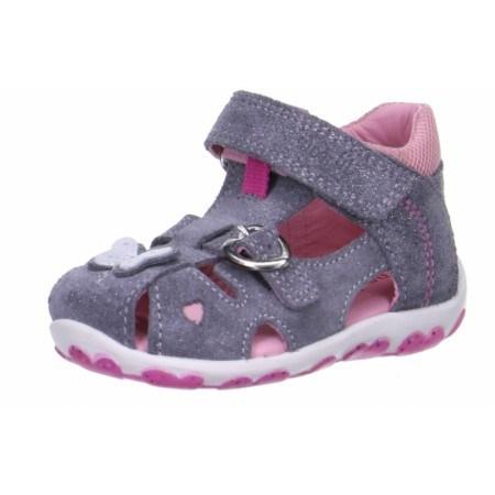 Детски затворени сандали за момиче Superft® - Австрия сиви/розови