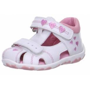 Детски затворени сандали за момиче Superft® - Австрия бели