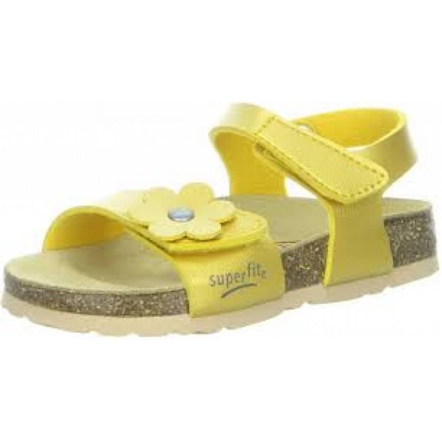 Ортопедични детски сандали за момиче Superfit жълти 24/33