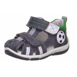 Детски затворени сандали за момиче Superft® - Австрия сиви