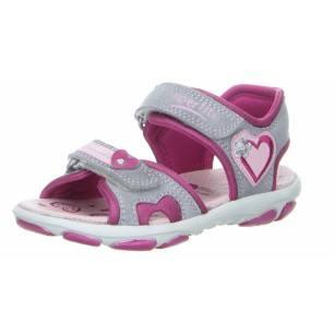 Детски анатомични сандали за момиче Superfit® - Австрия сиви/розови
