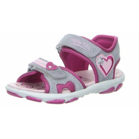 Детски анатомични сандали за момиче Superft® - Австрия сиви/розови