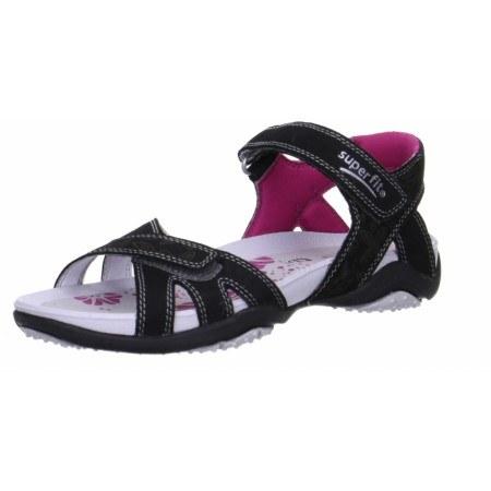 Анатомични сандали с лепки Superfit - Австрия черни/розови